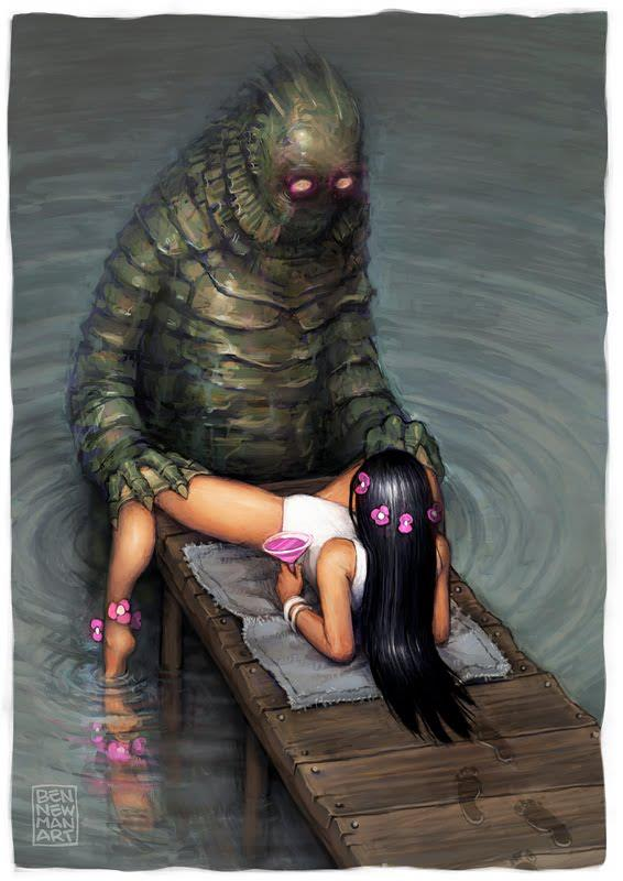 creature lake from shelby the Five nights in anime chica