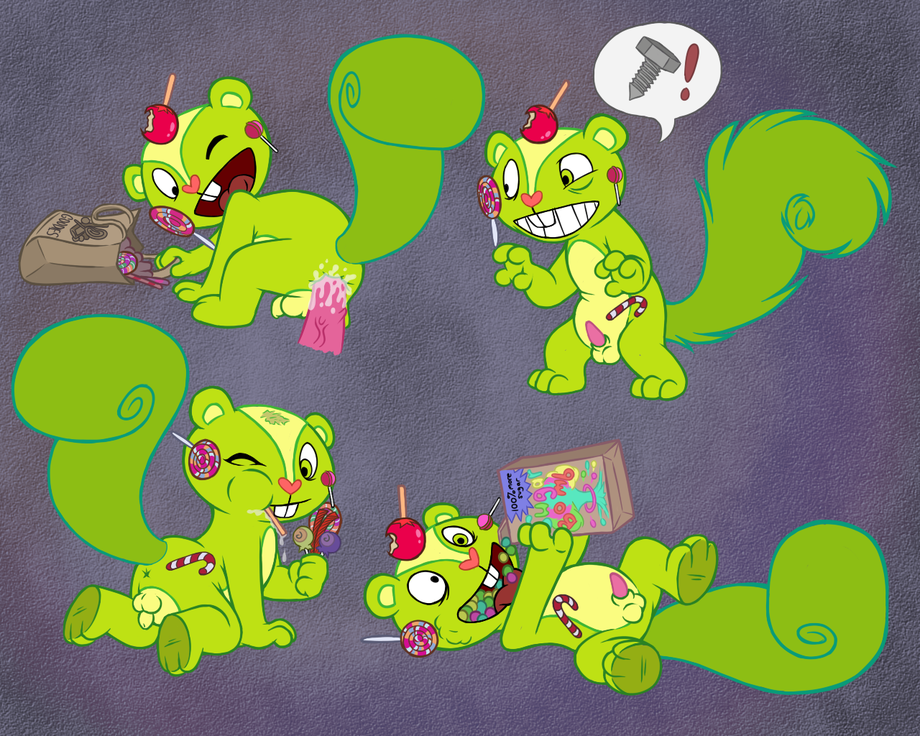 happy tree friends human nutty Mike, lu and og