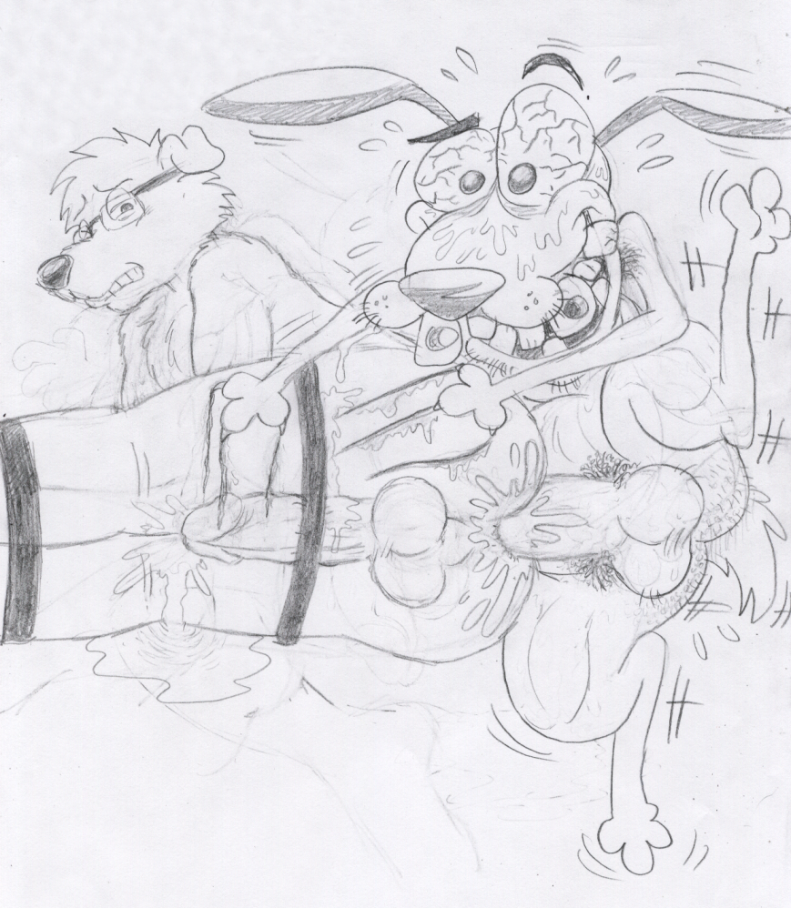 cowardly courage the rabbit dog Crush crush moist and uncensored outfits