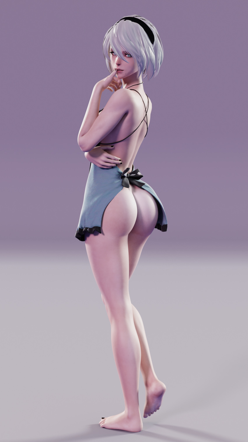 nier popola automata and devola Zelda dominates with ass and pussy